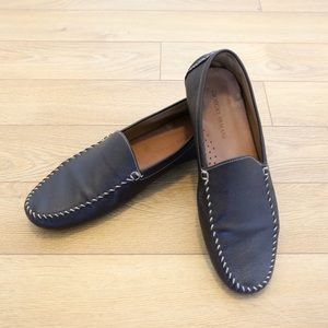 Giorgio Armani Leather Loafer Moccasins